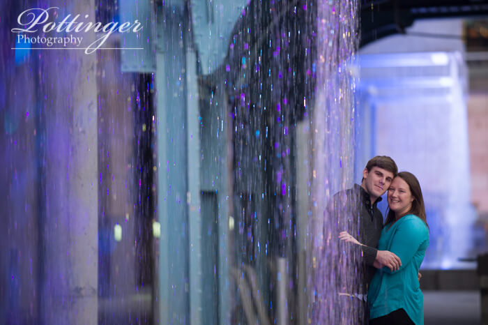 Smale Park fountains engagement