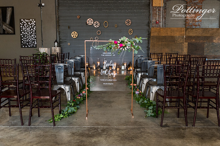 copper wedding ceremony