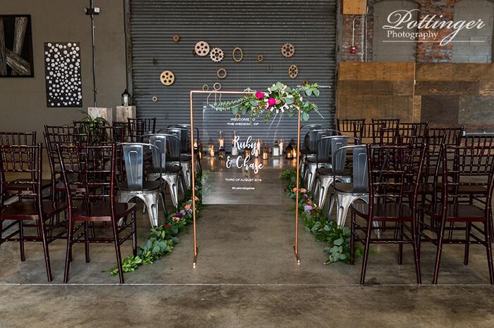 copper wedding ceremony