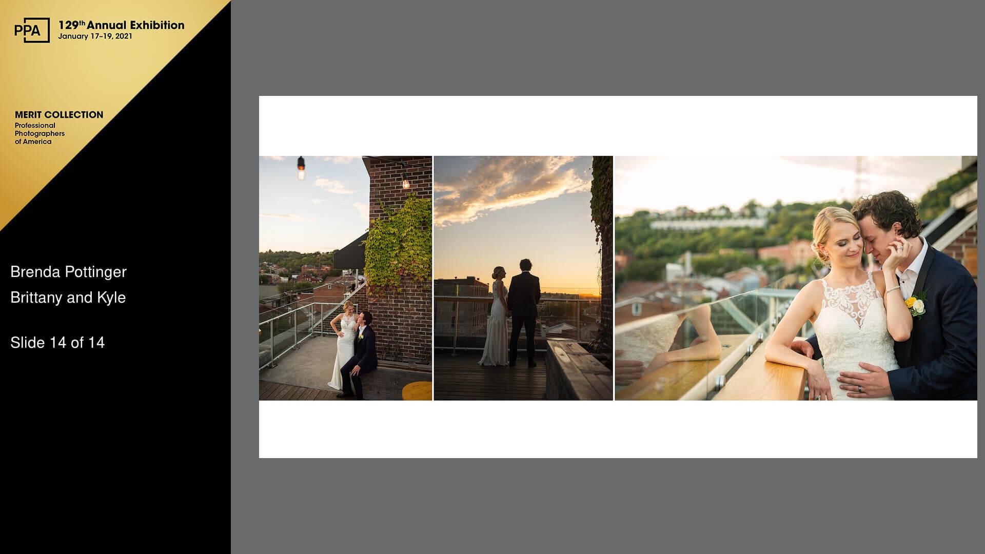 Rhinegeist rooftop wedding photo