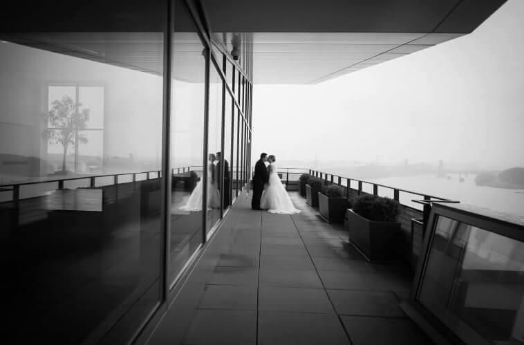 Muhammad Ali Center balcony rainy