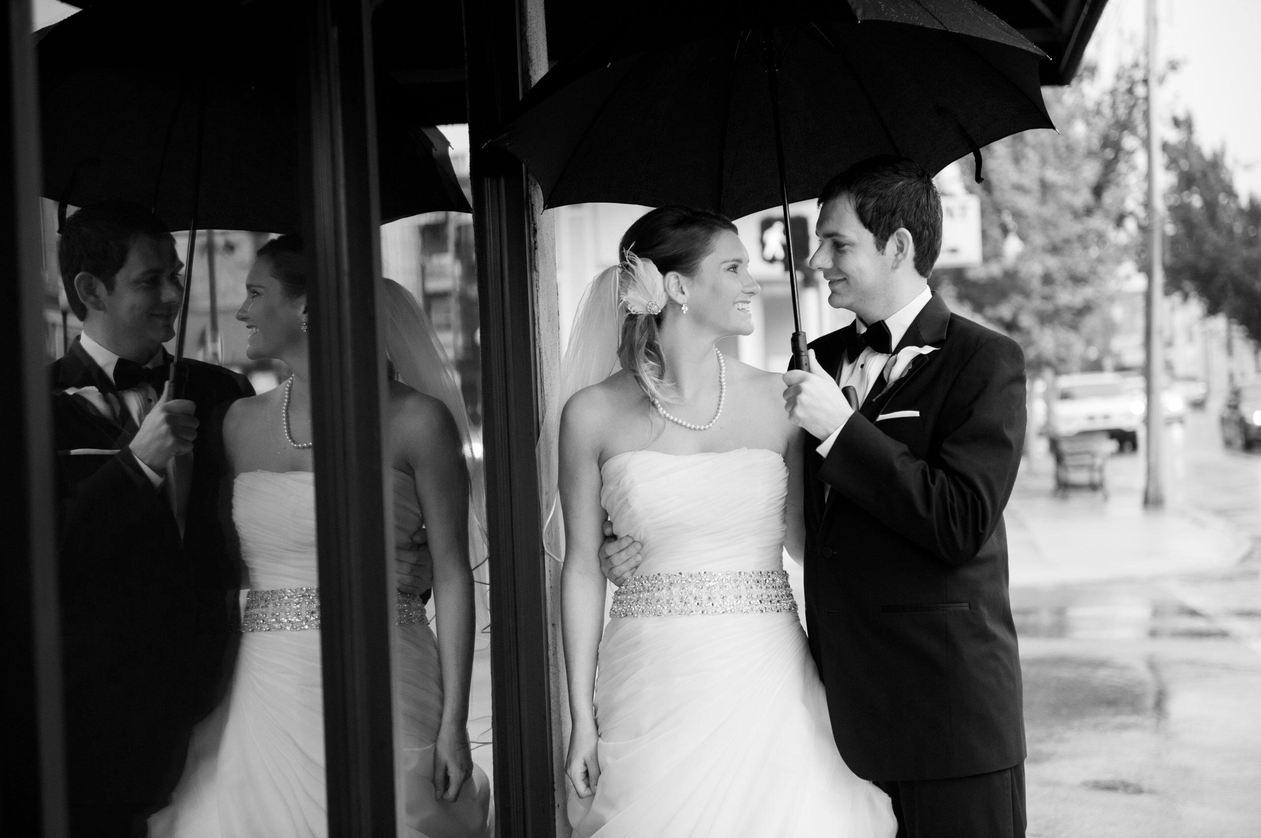 The Madison Event Center rain wedding photo